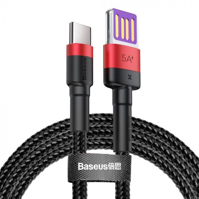 Cablu Type-C Baseus Cafule HW Quick Charging Red & Black