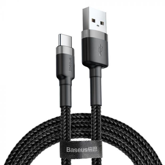 Cablu USB la Type-C Baseus Cafule Series Gray & Black