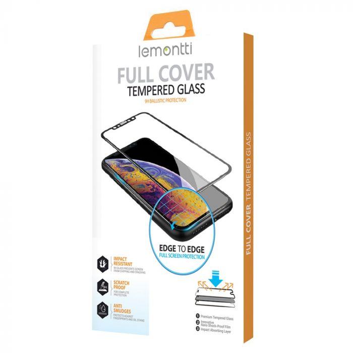 Folie iPhone 12 Pro / 12 Max Lemontti Sticla Full Fit Black