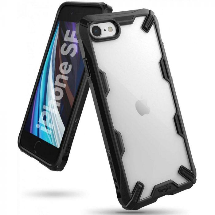 Husa iPhone SE 2020 / 8 / 7 Ringke Fusion X Negru