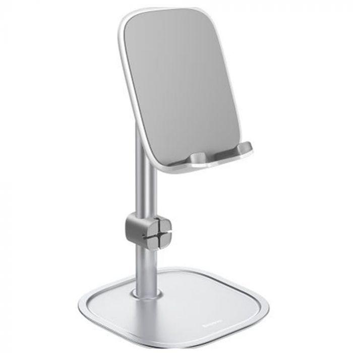 Suport Baseus Literary Youth Desktop Bracket pentru Telefon & Tableta Silver (brat telescopic)