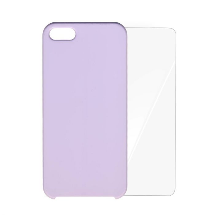 Carcasa iPhone SE/5S Odoyo Pastel Soft Liliac (folie inclusa)