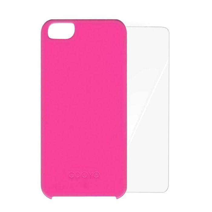 Carcasa iPhone SE/5S Odoyo Vivid Opera Pink (folie inclusa)