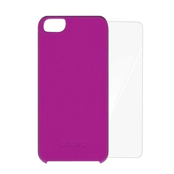 Carcasa iPhone SE/5S Odoyo Vivid Peony Purple (folie inclusa)