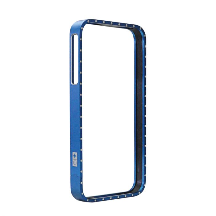Bumper iPhone 4/4S Swiss Charger Aluframe Ladies Albastru