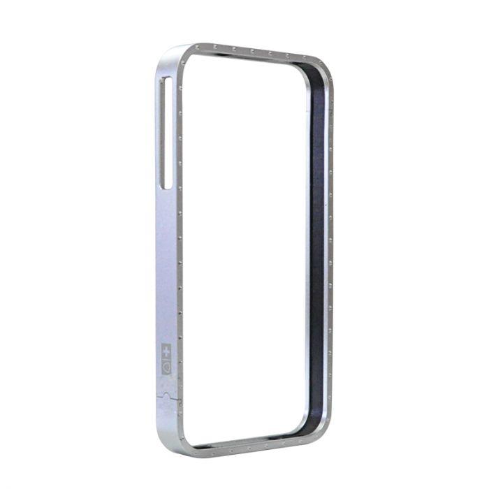 Bumper iPhone 4/4S Swiss Charger Aluframe Ladies Argintiu