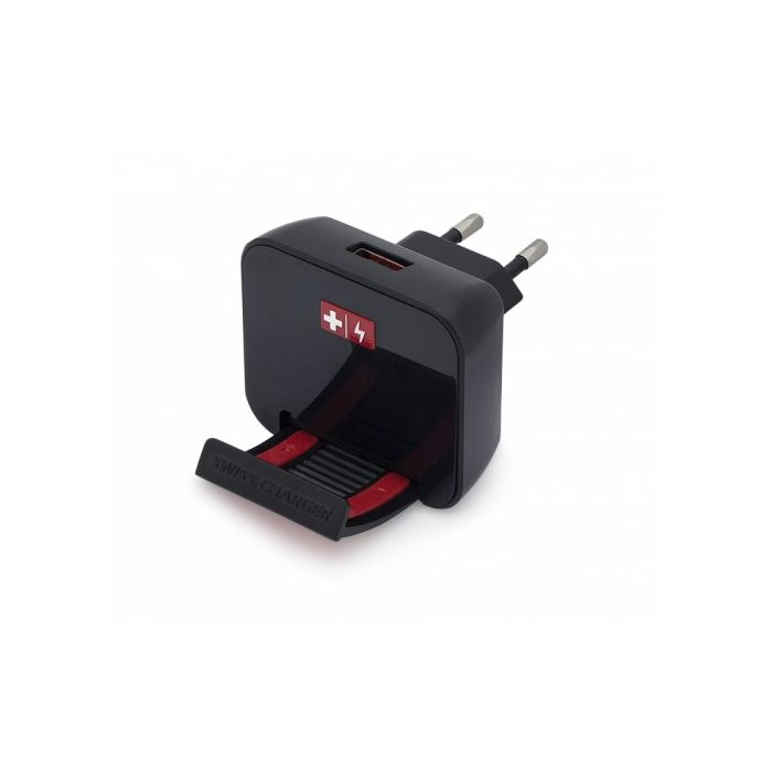 Incarcator Retea Swiss Charger USB Negru 2.4A