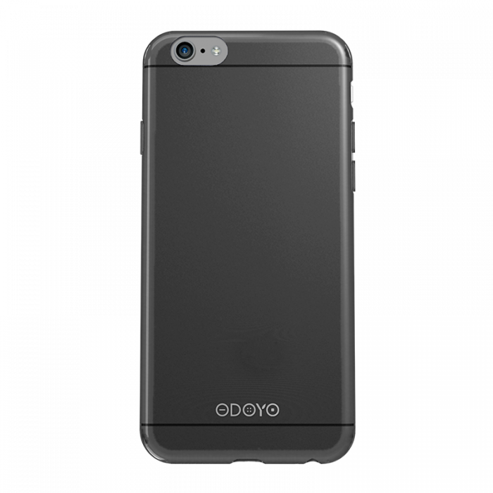 Husa iPhone 6/6S Odoyo Silicon Slim Edge Graphite Black (0.6mm)