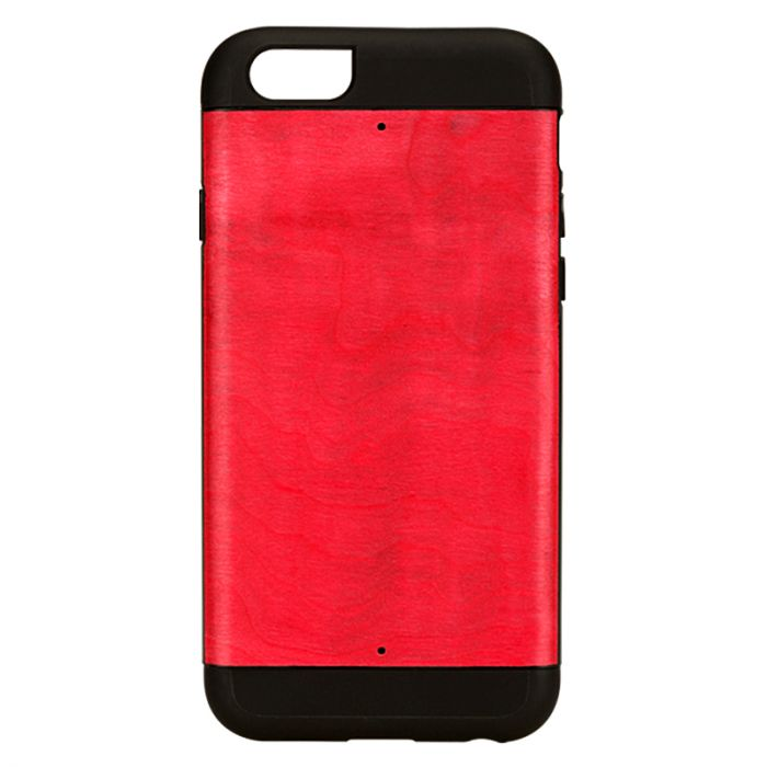 Carcasa iPhone 6/6S Man&Wood Lemn cu TPU Azelea