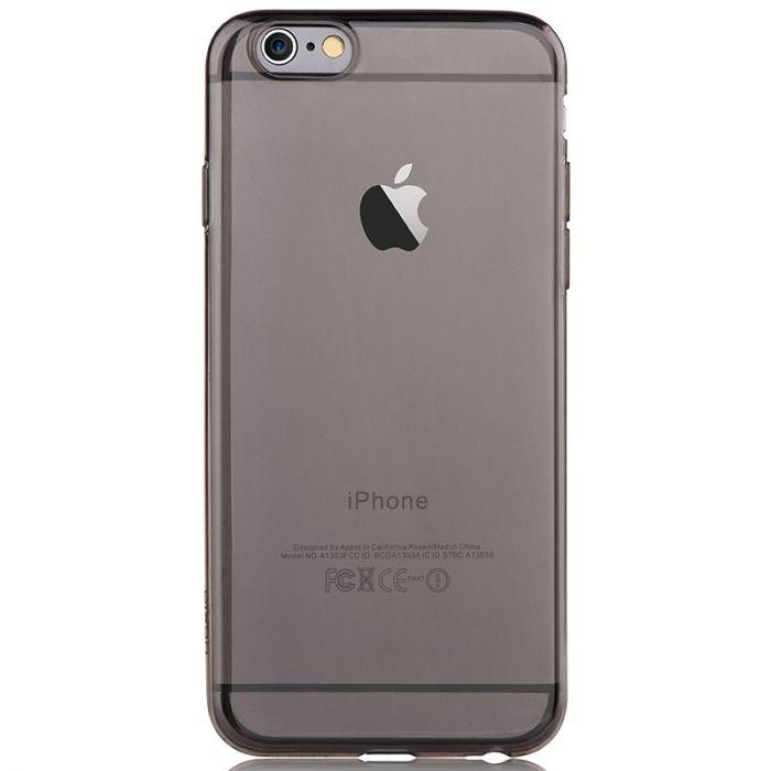 Husa iPhone 6/6S Devia Silicon Naked Smoky Black (0.5mm)