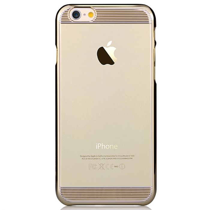 Carcasa iPhone 6/6S Comma Brightness Champagne Gold (rama electroplacata)