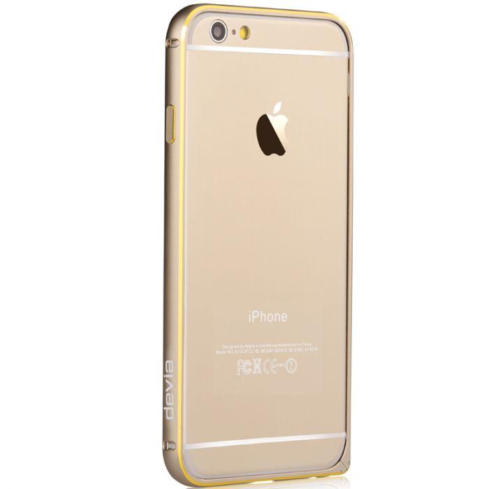 Bumper iPhone 6 Devia Aluminium Champagne Gold