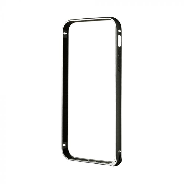 Bumper iPhone SE/5S Devia Buckle Black (aluminiu)