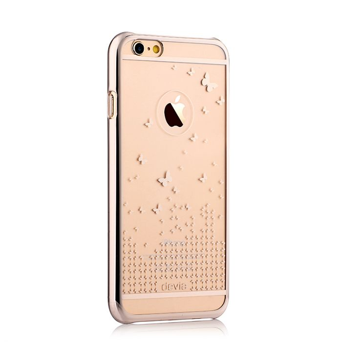 Carcasa iPhone 6/6S Devia Butterfly Champagne Gold (rama electroplacata)