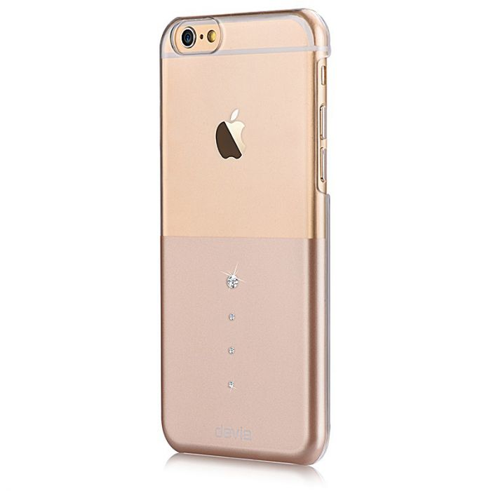 Carcasa iPhone 6/6S Devia Crystal Unique Champagne Gold (Cristale Swarovski�)