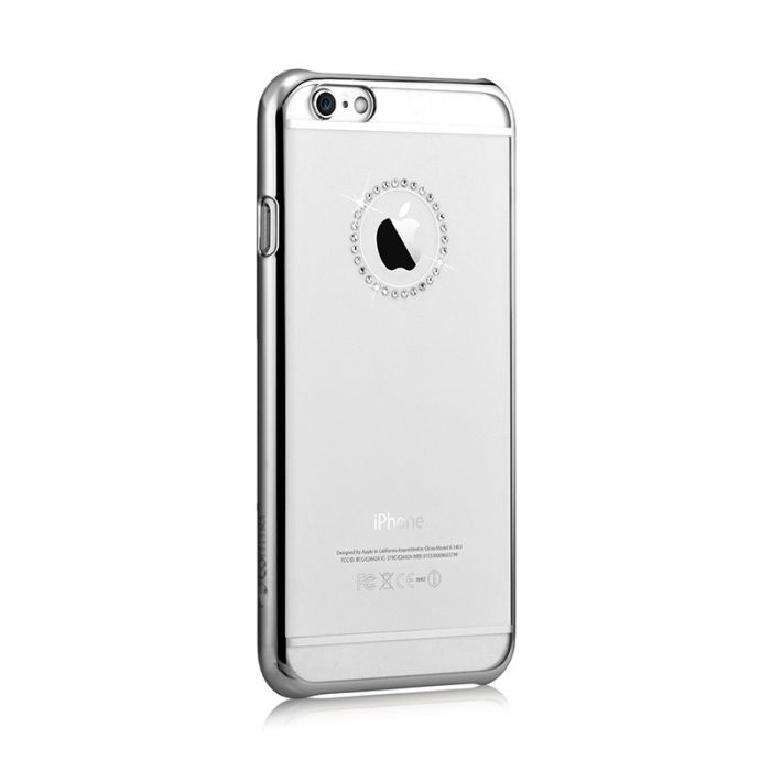 Carcasa iPhone 6/6S Comma Crystal Jewelry Silver (Cristale Swarovski�, electroplacat)