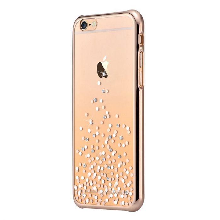 Carcasa iPhone 6/6S Comma Unique Polka Champagne Gold (Cristale Swarovski�, electroplacat)