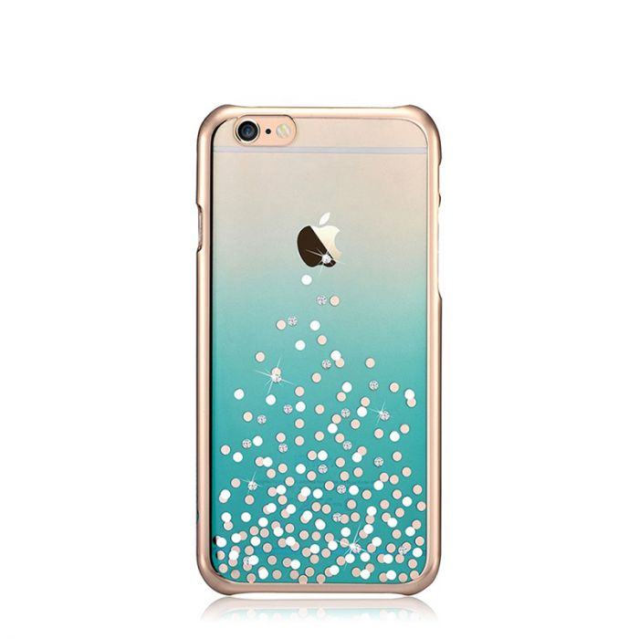 Carcasa iPhone 6 Plus Comma Unique Polka Green (Cristale Swarovski�, electroplacat)