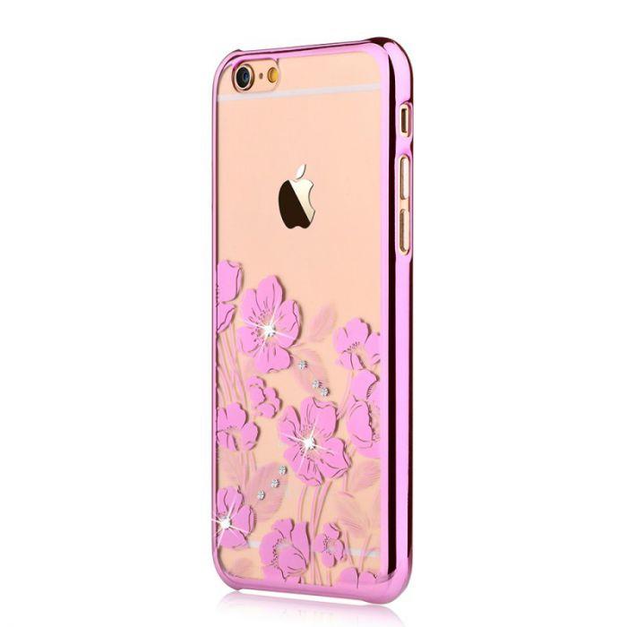 Carcasa iPhone 6/6S Devia Crystal Rococo Rose Pink (Cristale Swarovski�, electroplacat)