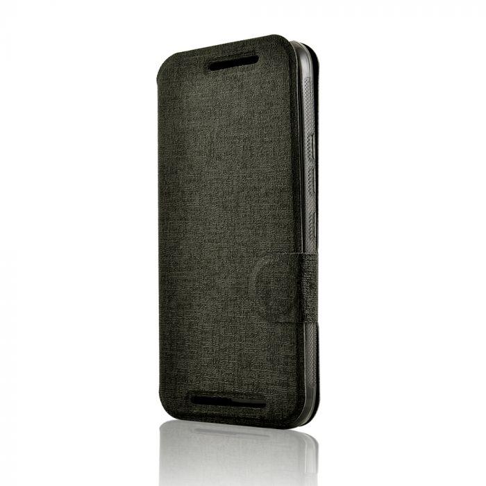 Husa HTC One M9 Lemontti Book Jelly Negru