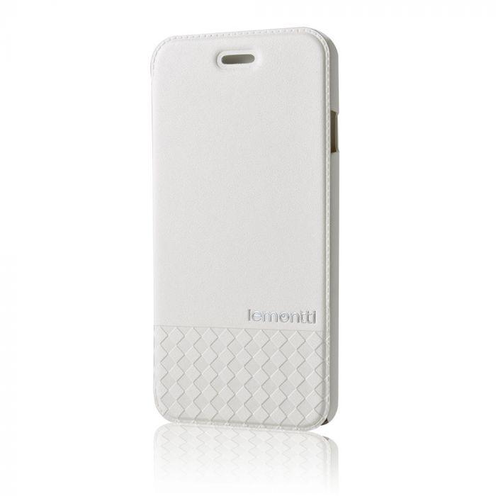 Husa iPhone 6/6S Lemontti Book Quadri Alb