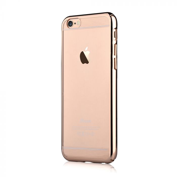 Carcasa iPhone 6/6S Comma Brightness Updated Version Champagne Gold (electroplacat, protectie 360�)