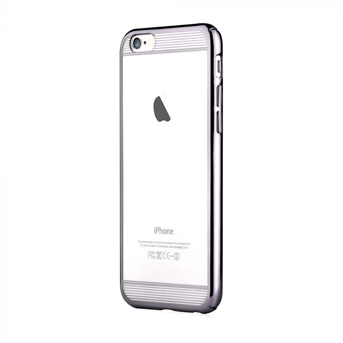 Carcasa iPhone 6/6S Comma Brightness Updated Version Silver (electroplacat, protectie 360�)