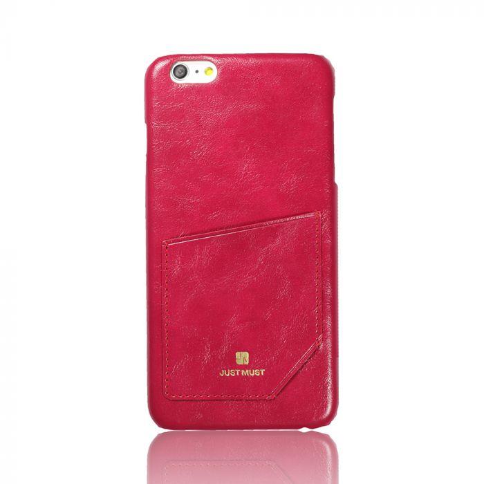 Carcasa iPhone 6/6S Just Must Chic Wine (cu buzunar)