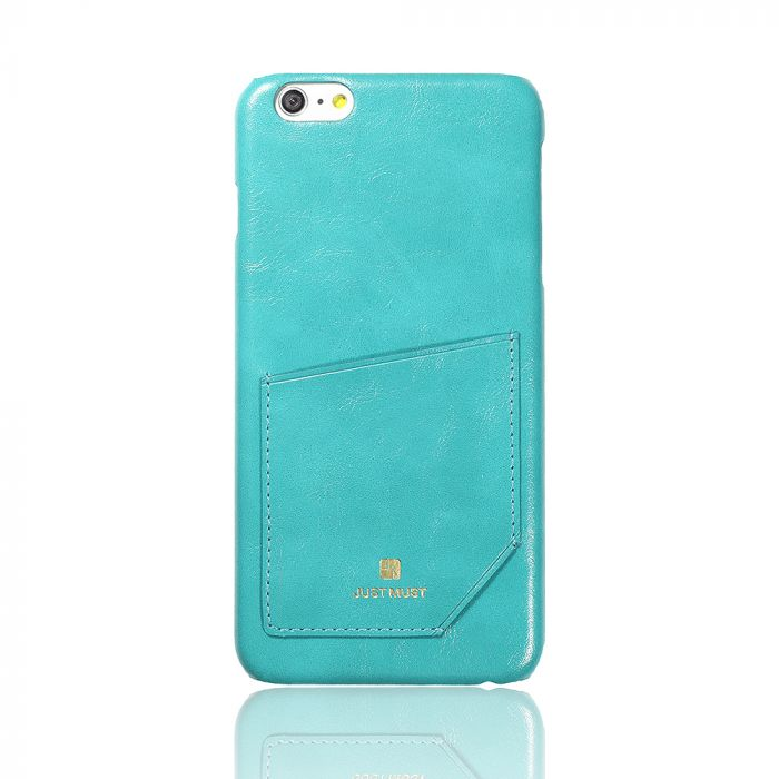 Carcasa iPhone 6 Plus Just Must Chic Turquoise (cu buzunar)
