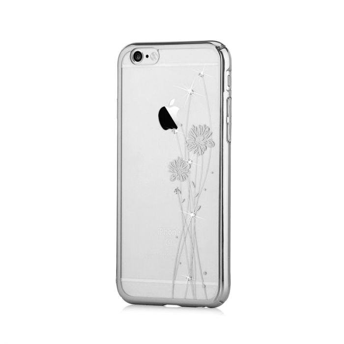 Carcasa iPhone 6/6S Comma Crystal Ballet Silver (Cristale Swarovski, electroplacat, protectie 360 gr