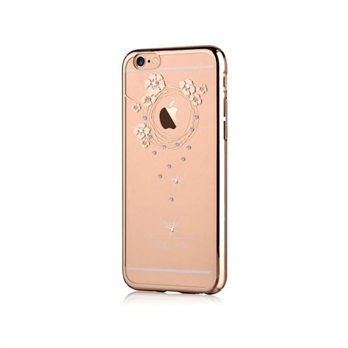 Carcasa iPhone 6/6S Devia Crystal Garland Champagne (Cristale Swarovski�, electroplacat, protectie 3