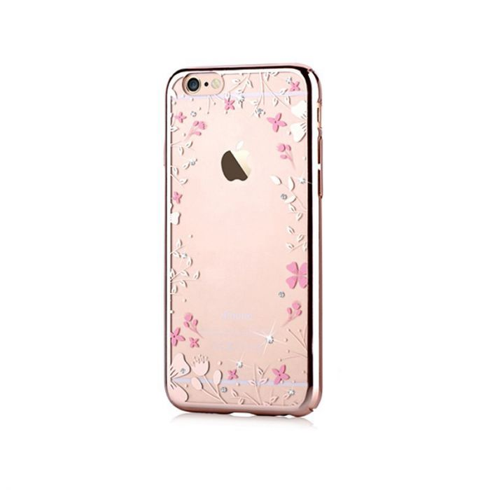 Carcasa iPhone 6/6S Devia Crystal Spring Champagne Gold (Cristale Swarovski�, electroplacat, protect
