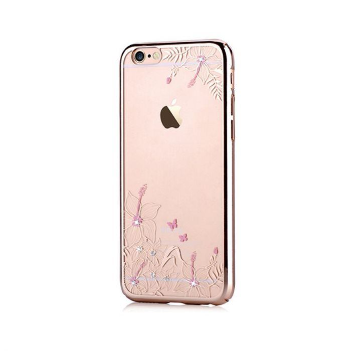 Carcasa iPhone 6/6S Devia Crystal Engaging Champagne Gold (Cristale Swarovski�, electroplacat, prote