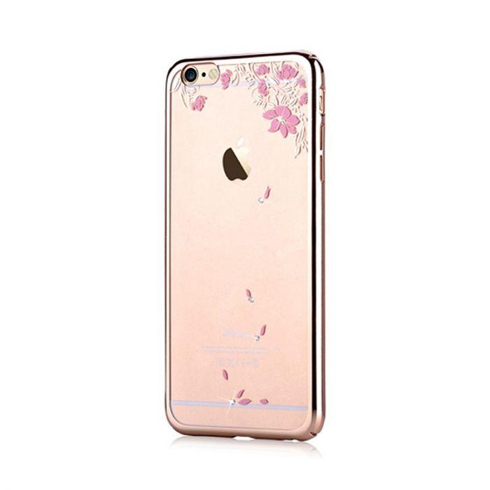 Carcasa iPhone 6/6S Devia Crystal Vivid Champagne Gold (Cristale Swarovski�, electroplacat, protecti