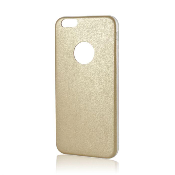 Husa iPhone 6/6S Lemontti Silicon Hybrid Auriu (ultraslim)