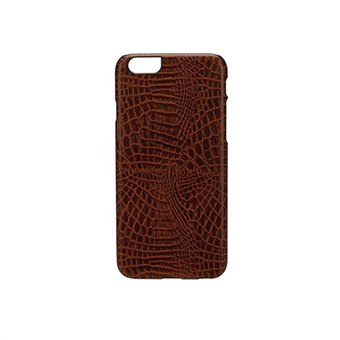 Carcasa iPhone 6/6S iKins Croco Dark Brown