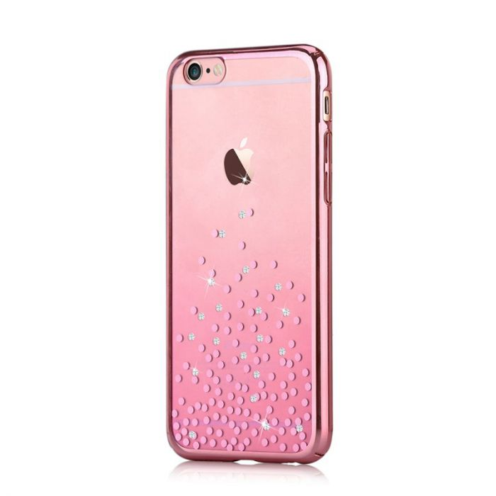 Carcasa iPhone 6/6S Comma Unique Polka Rose Gold (Cristale Swarovski�, electroplacat, protectie 360�