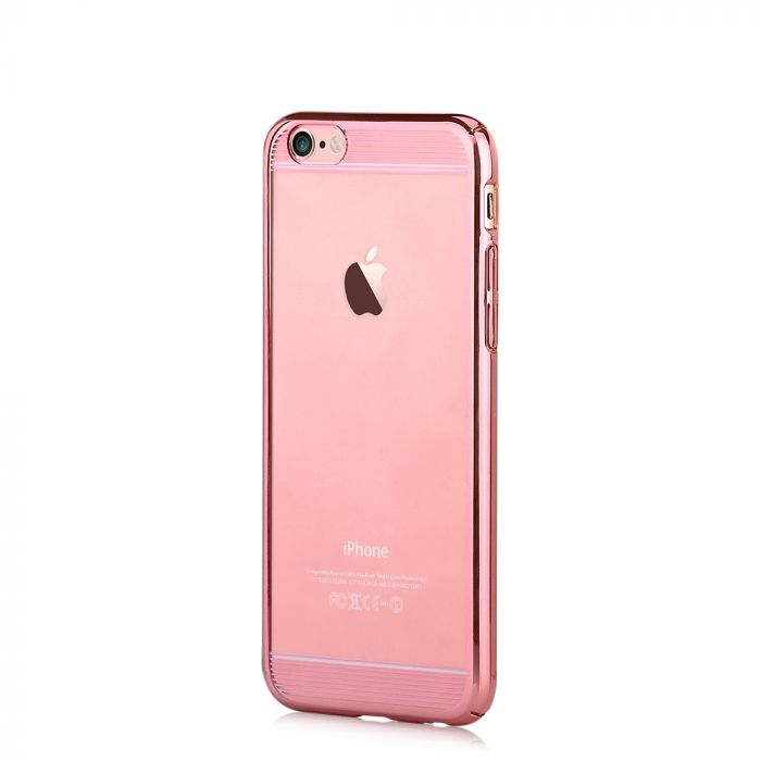Carcasa iPhone 6/6S Comma Brightness Updated Version Rose Gold (electroplacat, protectie 360�)