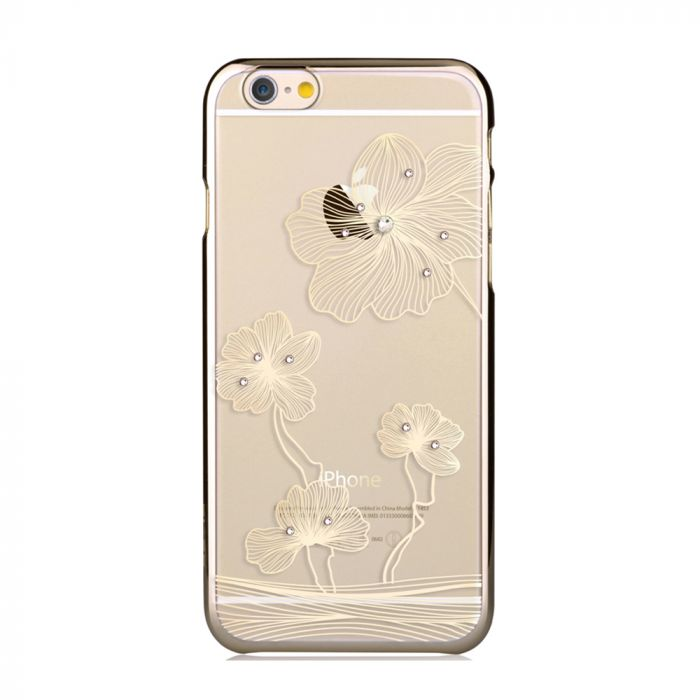 Carcasa iPhone 6/6S Comma Crystal Flora Champagne Gold (Cristale Swarovski�, electroplacat, protecti