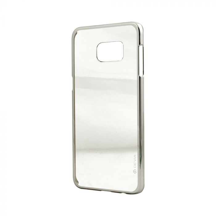 Carcasa Samsung Galaxy S6 Edge+ G928 Devia Glimmer Silver (rama electroplacata)