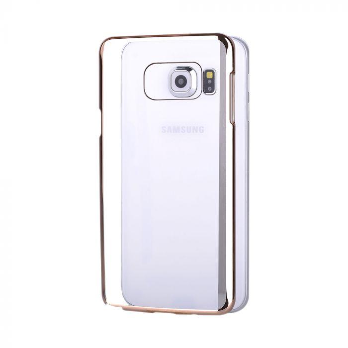 Carcasa Samsung Galaxy S6 Edge+ G928 Devia Glimmer Champagne Gold (rama electroplacata)