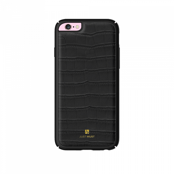 Carcasa iPhone 6/6S Just Must Croco Black (protectie margine 360�)