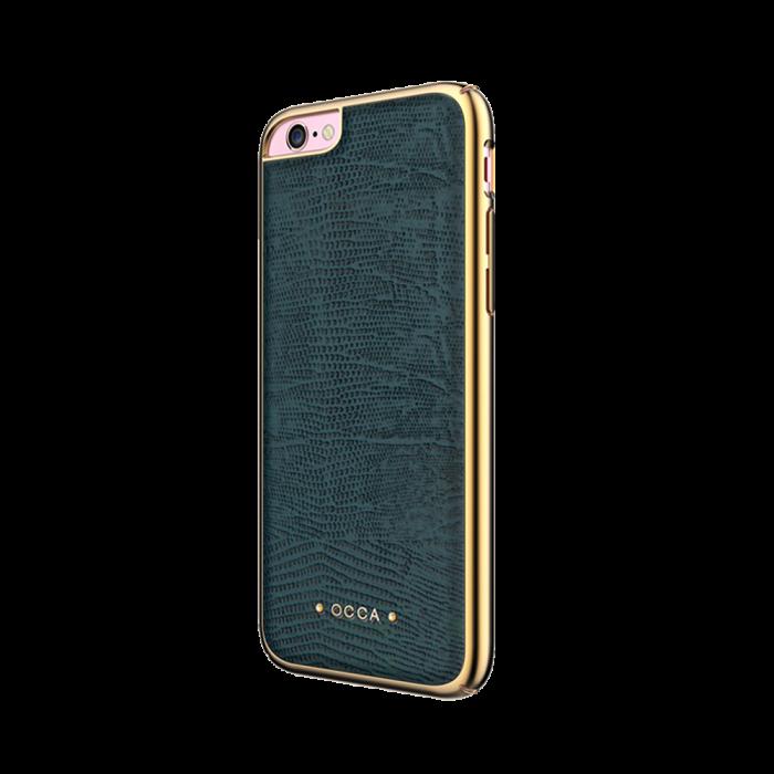 Carcasa iPhone 6/6S Occa Lizard Gray (piele naturala, protectie margine 360°)