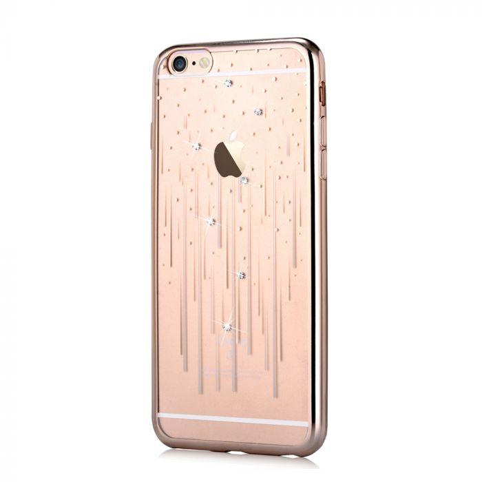 Husa iPhone 6/6S Devia Silicon Meteor Champagne Gold (Cristale Swarovski�)