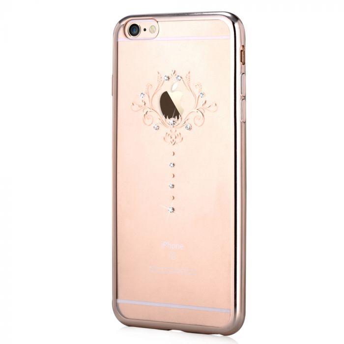 Husa iPhone 6 Plus Devia Silicon Iris Champagne Gold (Cristale Swarovski�)