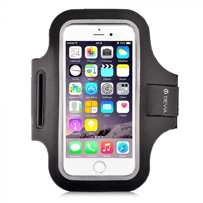 Husa Universala Devia Armband Sport-Fit Black (pentru smartphone de pana in 5