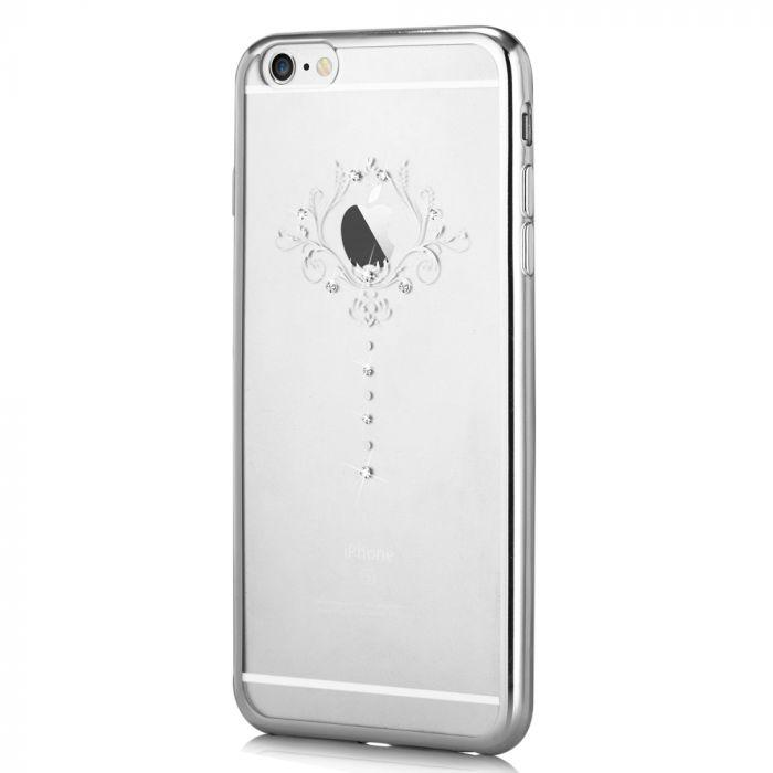 Husa iPhone 6 Plus Devia Silicon Iris Silver (Cristale Swarovski�)