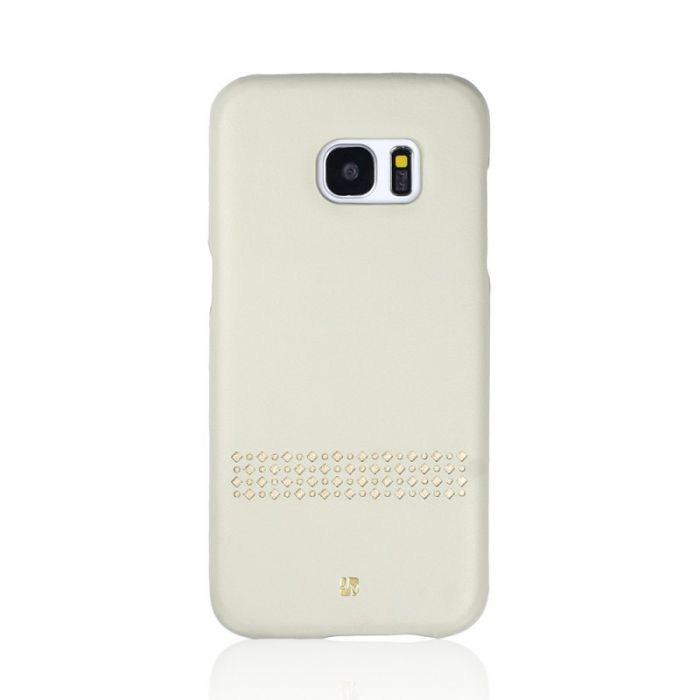 Carcasa Samsung Galaxy S7 Just Must Carve V Beige (protectie margine 360�)