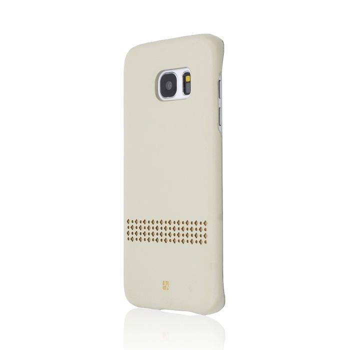 Carcasa Samsung Galaxy S7 Edge Just Must Carve V Beige (protectie margine 360�)