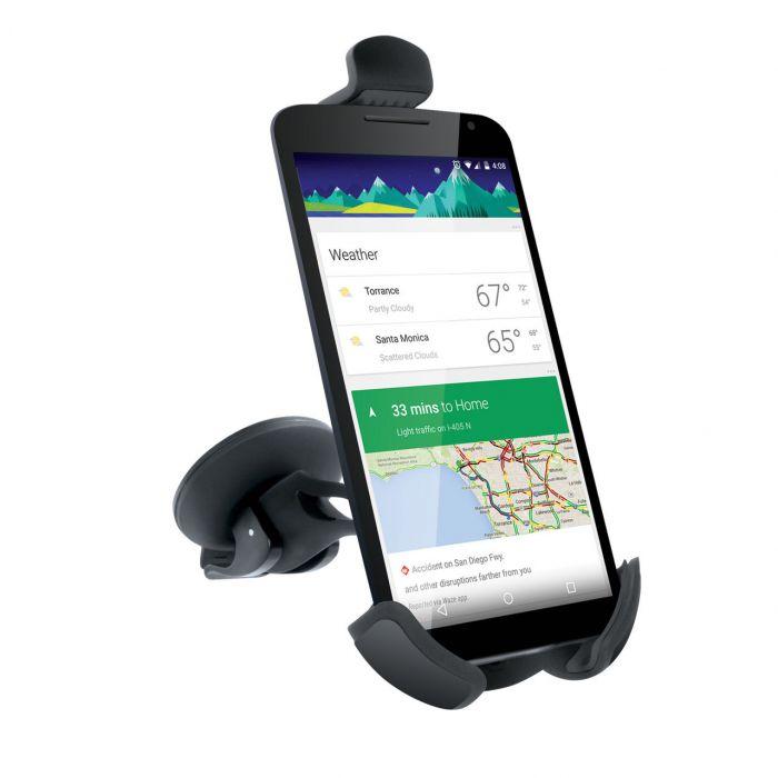 Suport iSound Auto cu ventuza, rotatie 360 grade (cablu audio inclus)